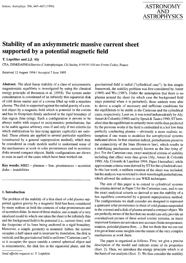 Stability of axisymmetric massive current sheets supported by...